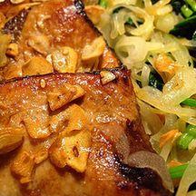カツオのガーリックソテーの簡単料理レシピ画像