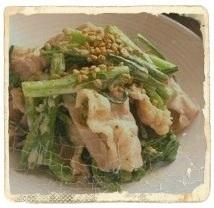 春菊の苦味を取るには-ためしてガッテン、「春菊と豚肉のフライパン蒸し」画像