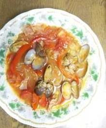 アサリのトマト煮込みの簡単レシピ画像